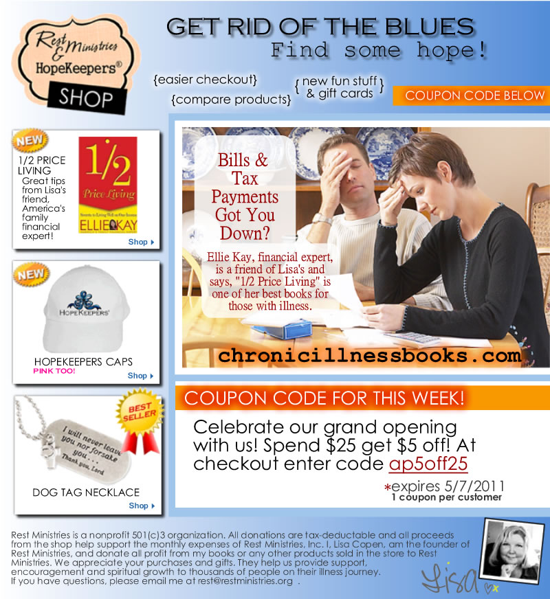 RM Shop's E-Flyer: Tired of Bills? Want to Feel Like God's Princess? We Got You Covered
