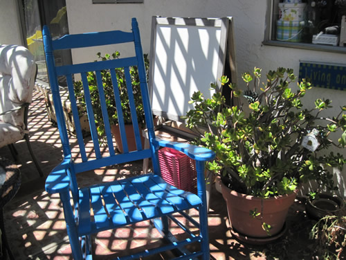 My Blue Rocking Chair