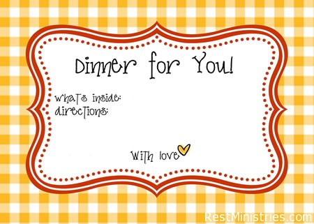 meal labels02 temporaryfile Bring a Meal and Make is Special With Free Printable Labels