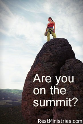 Are You Standing on the Summit or Clinging to the Rock?