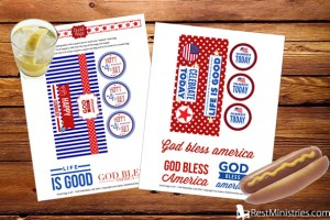 Snack Bag Printable Toppers for Independence Day