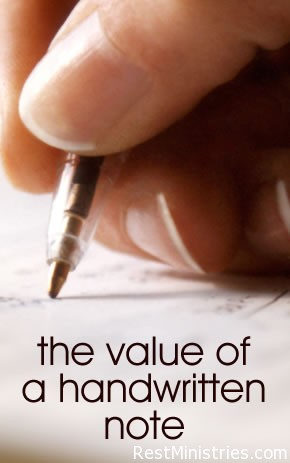Sincerely Yours, The Value of the Handwritten Note
