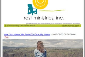 Receive All of Rest Ministries Posts in 1 Email a Week