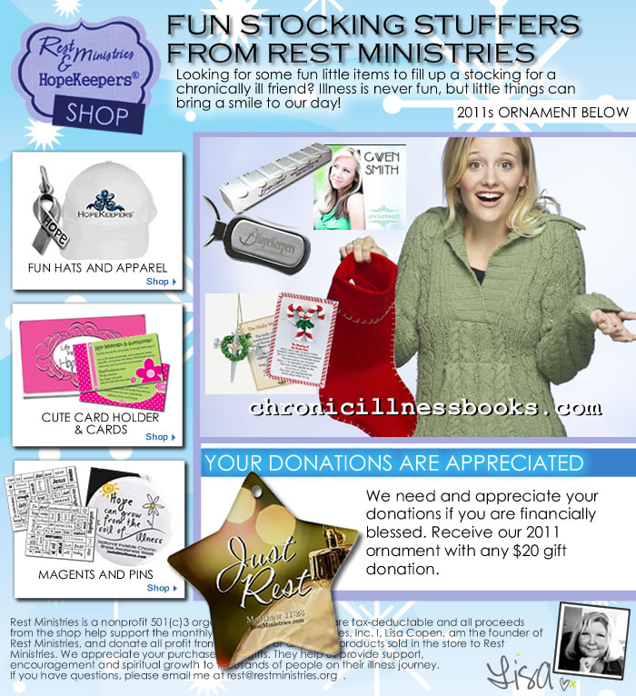 Eflyer – Fun Stocking Stuffers That Help Support Rest Ministries