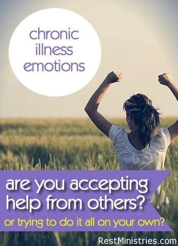 Accepting Help From Others When Weak From Illness