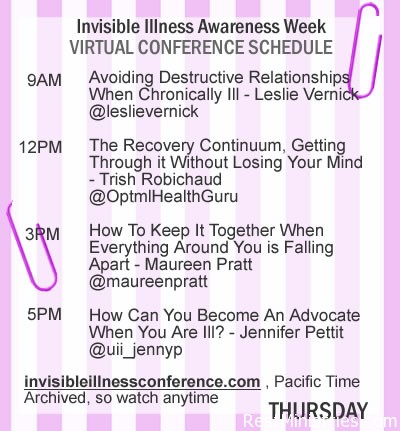 It is Thursday of Invisible Illness Awareness Week!