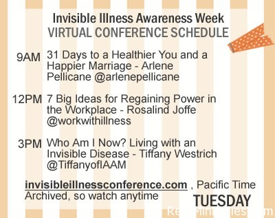 Tuesday's Announcements for Invisible Illness Awareness Week