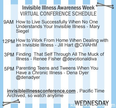 Wednesday's Happenings for Invisible Illness Awareness Week
